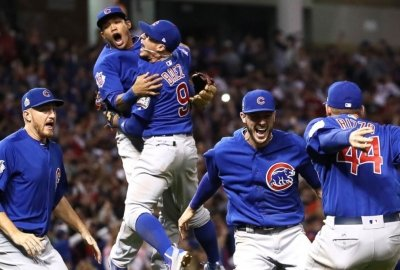 Chicago Cubs Players Celebrating their World Series Win