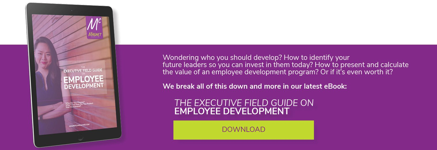Get Your Copy of The Executive Field Guide on Employee Development by Magnet Consulting